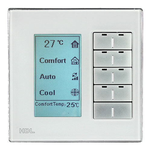 HDL河东智能家居多功能智能面板(银)红外功能、背光亮度可调MPL8.48