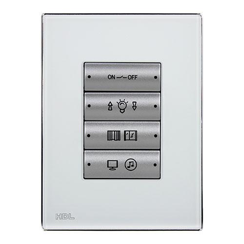 HDL河东智能家居智能面板(银)多种面板按键模式、按键状态灯亮度可调MP4A.46