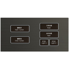 荣苗智能家居两连体控制面板(两按键、四按键)
