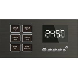 荣苗智能家居两连体控制面板(地暖、两按键)