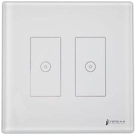科道智能智能双向二位触摸开关(白)零火双线制接入或单火线接入KDZN-07