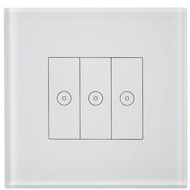 科道智能智能双向三位触摸开关(白)零火双线制接入或单火线接入、容易清洁KDZN-06
