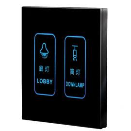 BONEYLINK博尼智能家居智能开关(黑色)墙壁标准86底盒、可扩展至16个按键来控制灯光/空调/电器/服务等T-BC-330