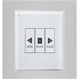 妙妙屋智能家居单轨电动窗帘无线控制面板(左右型) 3键白色 MMW-H3NBK-ZY-B/W