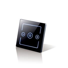 卓居智能家居一位调光控制器钢化玻璃触控面板、防火ABS材料ZJZN-08