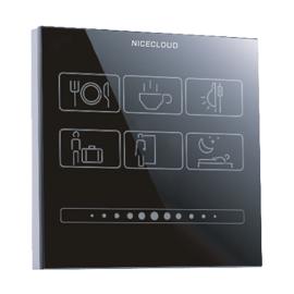 卓亚云智能家居情景控制面板通过无线433M信号传输、远程控制