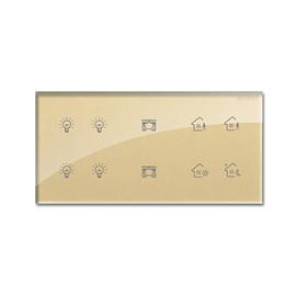 SCHIELE施勒智能家居灯光控制终端(黄)E系列开关面板、钢化玻璃材质SLZN-03