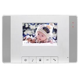 逍遥智能家居超薄型彩色可视免提分机(4.3寸)监视单元主机、分机待机无功耗