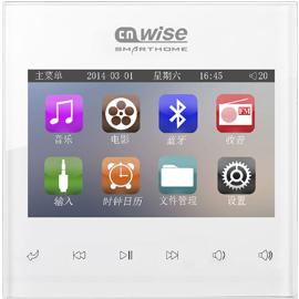 宜居尚雅智能家居背景音乐主机SY03001-3寸全彩TFT触摸显示屏、HiFi标准音质iksonya SY03001