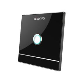 宜居尚雅智能家居一位通用开关独特的夜光指示功能、水晶玻璃面板iksonya SY61001-B/W