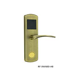 英诺维智能电子门锁采用标准五舌锁体、防暴力破解RF-INV600-AB