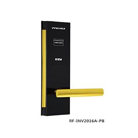 英诺维智能感应锁隐藏式机械钥匙、亚克力面板RF-INV2016A-PB