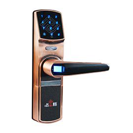 中国结智能锁防盗门指纹锁自动通知、用四节5号干电池供电方式CK901A