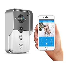 KUFENG酷丰智能家居无线可视门铃(银色)可视对讲、红外夜视HZKF-04