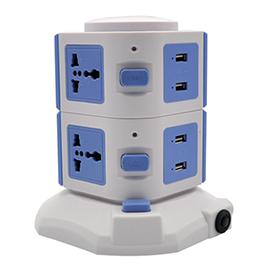 HF华凡智能家居智能国标排插电器定时/延时开关、一键控制HFKJ-06
