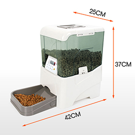 派旺智能喂宠遥控式自动宠物喂食器专为中小型宠物设计、进口ABS塑胶PF-21B
