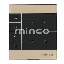 minco明科智能家居二路零火触摸开关本地控制、APP控制、场景控制MK-LZ-3102N