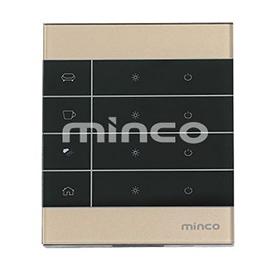 minco明科智能家居四路零火触摸开关本地控制、APP控制、场景控制MK-LZ-3104N