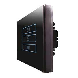 福森智能家居零火线窗帘开关电容触摸、采用高灵敏电容式触摸设计,并带有蓝色背光显示FSZN-03