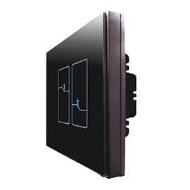 福森智能家居零火双联双控开关远程控制、采用高灵敏电容式触摸设计,并带有蓝色背光显示FSZN-04