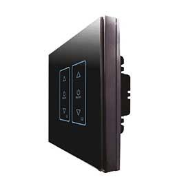 福森智能家居零火线调光开关采用高灵敏电容式触摸设计,并带有蓝色背光显示FSZN-05
