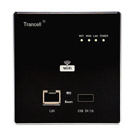 Trancell畅想智能家居300M无线AP面板家电控制、标准86盒安装TX-AP01