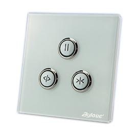 百络优智能家居窗帘面板LED状态指示、可以通过APP软件进行控制