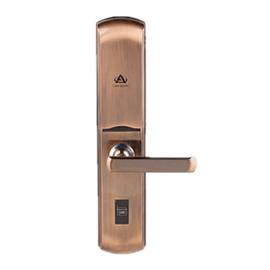 砺安智能锁无孔指纹锁超强适配锁体、采用4节5号碱性LA5