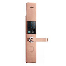 亚太天能智能锁V系列指纹锁通过使用蓝牙无线连接、手机直接快速通讯V9