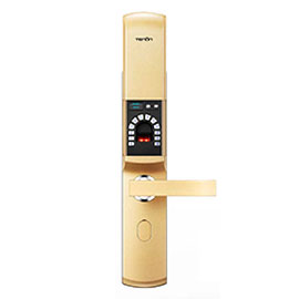 亚太天能智能锁V系列指纹锁通过使用蓝牙无线连接、手机直接快速通讯V8