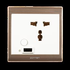 众腾伟业智能家居智能墙面插座(白)手机APP控制、支持语音控制指令ZTWY-09