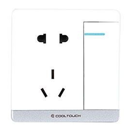 COOLTOUCH橙朴智能家居智能插座一键双控、进口PC阻燃材料CP-20