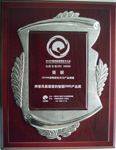 2010网管员最喜爱的智能DNS产品奖