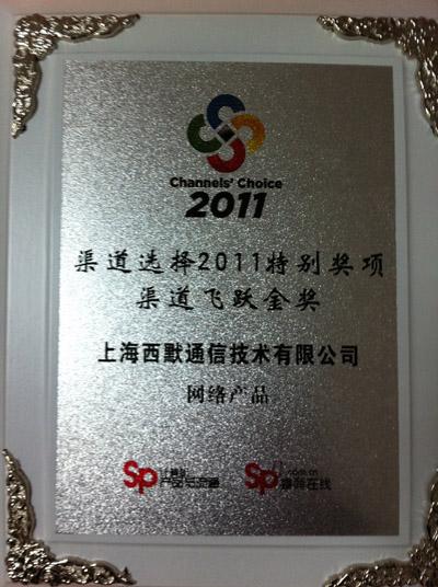 2011特别奖项渠道飞跃金奖