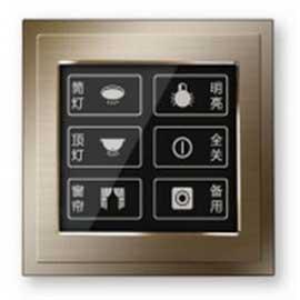 星网锐捷单联两开控制面板电阻触摸屏、6个触摸按键SNS-L312T