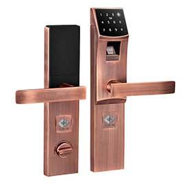 嵌悦Zigbee门锁抗干扰、远程开锁QY-01