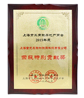 上海市工商联房地产商会特别贡献奖