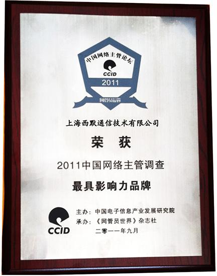 2011中国网络主管调查 最具影响力品牌