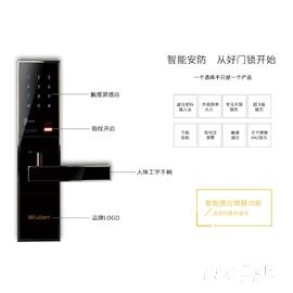 南京物联智能家居-指纹密码锁-黑金刚-智能门锁-网络锁WL-ZLSDBMT-A110-02
