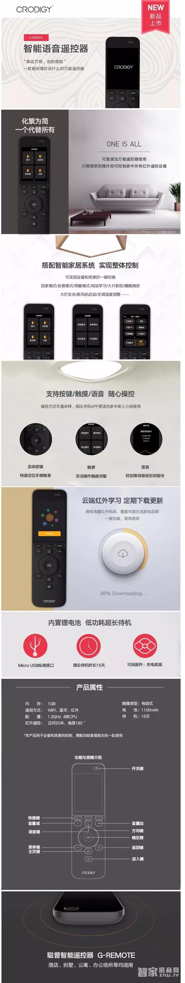聪普发布新品智能语音遥控器!