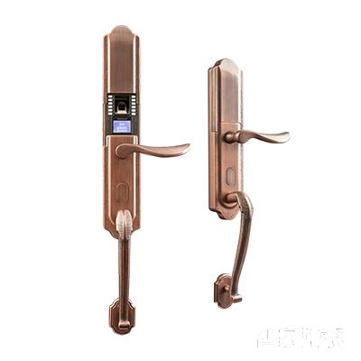 施肯洛克智能锁雅系列指纹锁/密码锁、滑盖、红古铜、锌合金面板S-1187K
