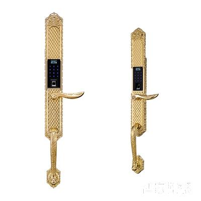 施肯洛克智能锁唯系列指纹锁/密码锁、滑盖、24K金、锌合金面板S-1588K24K