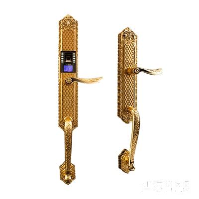 施肯洛克智能锁唯系列指纹锁/密码锁、滑盖、24K金、锌合金面板S-1587K24K