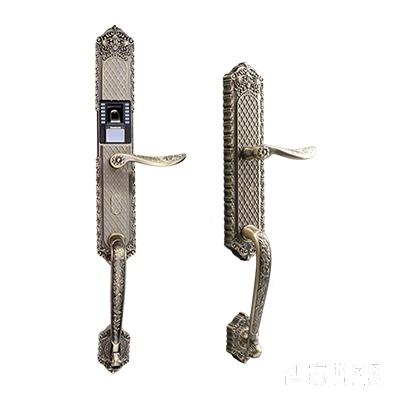 施肯洛克智能锁唯系列指纹锁/密码锁、滑盖、24K金、锌合金面板S-1587K