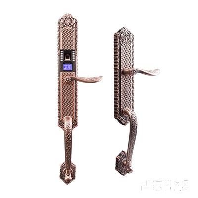 施肯洛克智能锁唯系列指纹锁/密码锁、滑盖、红古铜、锌合金面板S-1587K