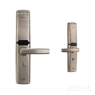 施肯洛克智能锁韵系列指纹锁/密码锁、滑盖、青古铜、锌合金面板S-1787