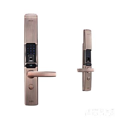 施肯洛克智能锁韵系列指纹锁/密码锁、滑盖、红古铜、锌合金面板S-1787