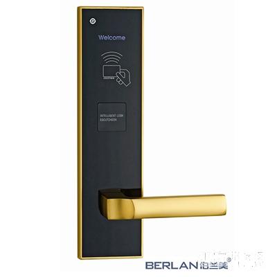 BERLAN伯兰美智能锁智能酒店刷卡锁蝶变系列直板珍珠金T1