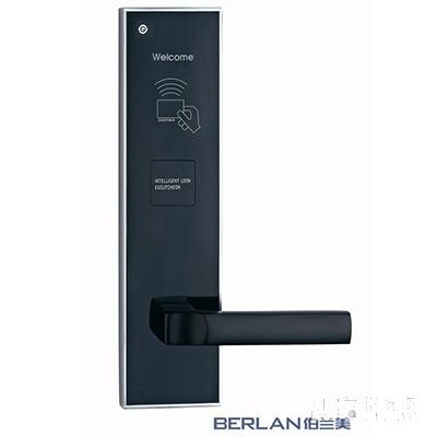 BERLAN伯兰美智能锁智能酒店锁蝶变系列直板纳米银T1