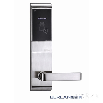 BERLAN伯兰美智能锁智能酒店锁睿智系列直板砂银A8